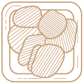 Icoon knabbel Ateljee 94 in huiskleur